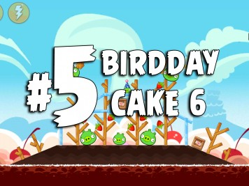 Angry Birds Classic Cake 6 Level 5 Labeled