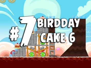 Angry Birds Classic Cake 6 Level 7 Labeled