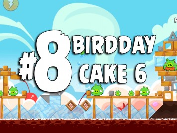 Angry Birds Classic Cake 6 Level 8 Labeled