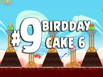 Angry Birds Classic Cake 6 Level 9 Labeled