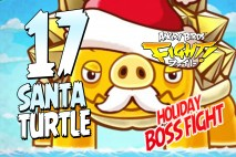 Angry Birds Fight Rare Santa Turtle Boss Battle! Holiday Update