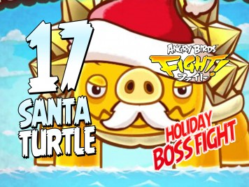 Angry Birds Fight Rare Santa Turtle Boss Battle! Holiday Updatet