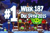 Angry Birds Friends 2015 Holiday Oink Tournament Level 1 Week 187 Walkthrough
