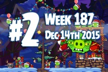 Angry Birds Friends 2015 Holiday Oink Tournament Level 2 Week 187 Walkthrough