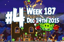 Angry Birds Friends 2015 Holiday Oink Tournament Level 4 Week 187 Walkthrough