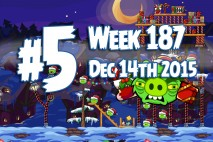 Angry Birds Friends 2015 Holiday Oink Tournament Level 5 Week 187 Walkthrough