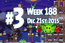 Angry Birds Friends 2015 Holiday Oink Tournament Level 3 Week 188 Walkthrough
