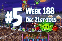 Angry Birds Friends 2015 Holiday Oink Tournament Level 5 Week 188 Walkthrough
