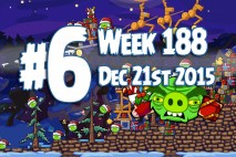 Angry Birds Friends 2015 Holiday Oink Tournament Level 6 Week 188 Walkthrough