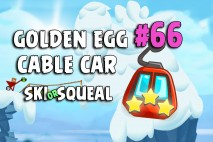 Angry Birds Seasons Ski or Squeal Big Cable Car Golden Egg #66 Walkthrough