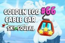 Angry Birds Seasons Ski or Squeal Big Cable Car Golden Egg #66 Walkthrough