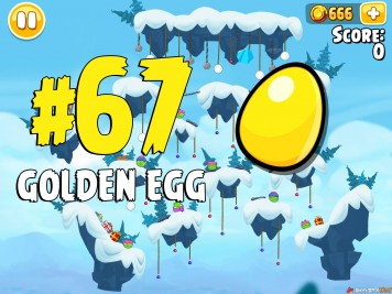 Angry Birds Seasons Ski or Squeal Golden Egg #67 Image