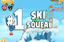 Angry Birds Seasons Ski or Squeal Level 1-1 Walkthrough