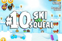 Angry Birds Seasons Ski or Squeal Level 1-10 Walkthrough