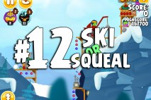 Angry Birds Seasons Ski or Squeal Level 1-12 Walkthrough