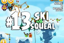 Angry Birds Seasons Ski or Squeal Level 1-13 Walkthrough