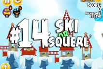 Angry Birds Seasons Ski or Squeal Level 1-14 Walkthrough