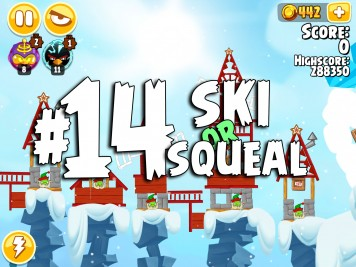 Angry Birds Seasons Ski or Squeal Level 1-14