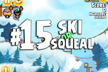Angry Birds Seasons Ski or Squeal Level 1-15 Walkthrough