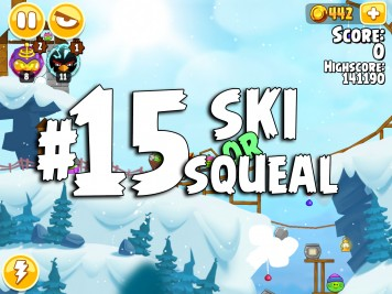 Angry Birds Seasons Ski or Squeal Level 1-15