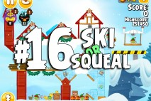 Angry Birds Seasons Ski or Squeal Level 1-16 Walkthrough