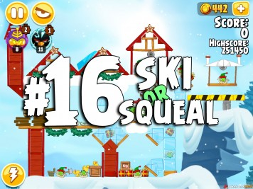 Angry Birds Seasons Ski or Squeal Level 1-16