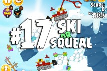 Angry Birds Seasons Ski or Squeal Level 1-17 Walkthrough