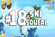 Angry Birds Seasons Ski or Squeal Level 1-18 Walkthrough