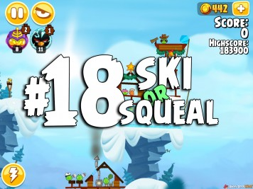 Angry Birds Seasons Ski or Squeal Level 1-18
