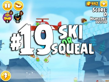 Angry Birds Seasons Ski or Squeal Level 1-19