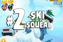 Angry Birds Seasons Ski or Squeal Level 1-2 Walkthrough
