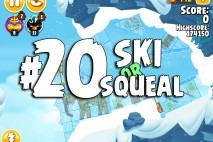 Angry Birds Seasons Ski or Squeal Level 1-20 Walkthrough