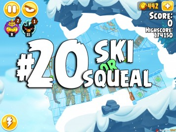 Angry Birds Seasons Ski or Squeal Level 1-20
