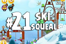 Angry Birds Seasons Ski or Squeal Level 1-21 Walkthrough