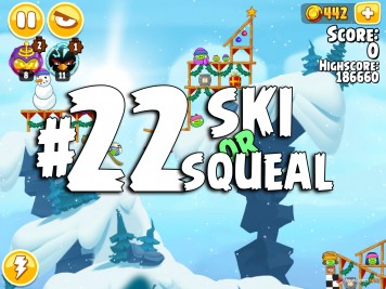 Angry Birds Seasons Ski or Squeal Level 1-22