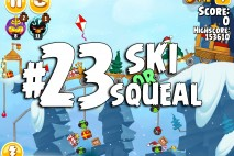 Angry Birds Seasons Ski or Squeal Level 1-23 Walkthrough
