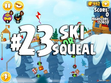 Angry Birds Seasons Ski or Squeal Level 1-23