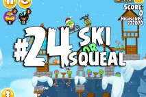 Angry Birds Seasons Ski or Squeal Level 1-24 Walkthrough