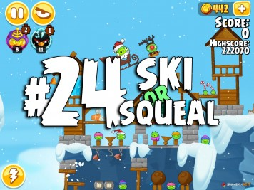 Angry Birds Seasons Ski or Squeal Level 1-24
