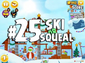 Angry Birds Seasons Ski or Squeal Level 1-25