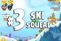 Angry Birds Seasons Ski or Squeal Level 1-3 Walkthrough
