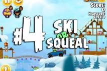 Angry Birds Seasons Ski or Squeal Level 1-4 Walkthrough