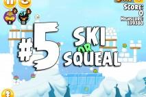 Angry Birds Seasons Ski or Squeal Level 1-5 Walkthrough