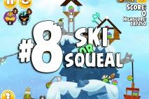Angry Birds Seasons Ski or Squeal Level 1-8 Walkthrough