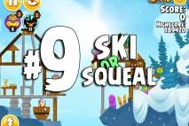 Angry Birds Seasons Ski or Squeal Level 1-9 Walkthrough