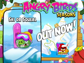 Angry Birds Seasons Ski or Squeal Update Feature Image