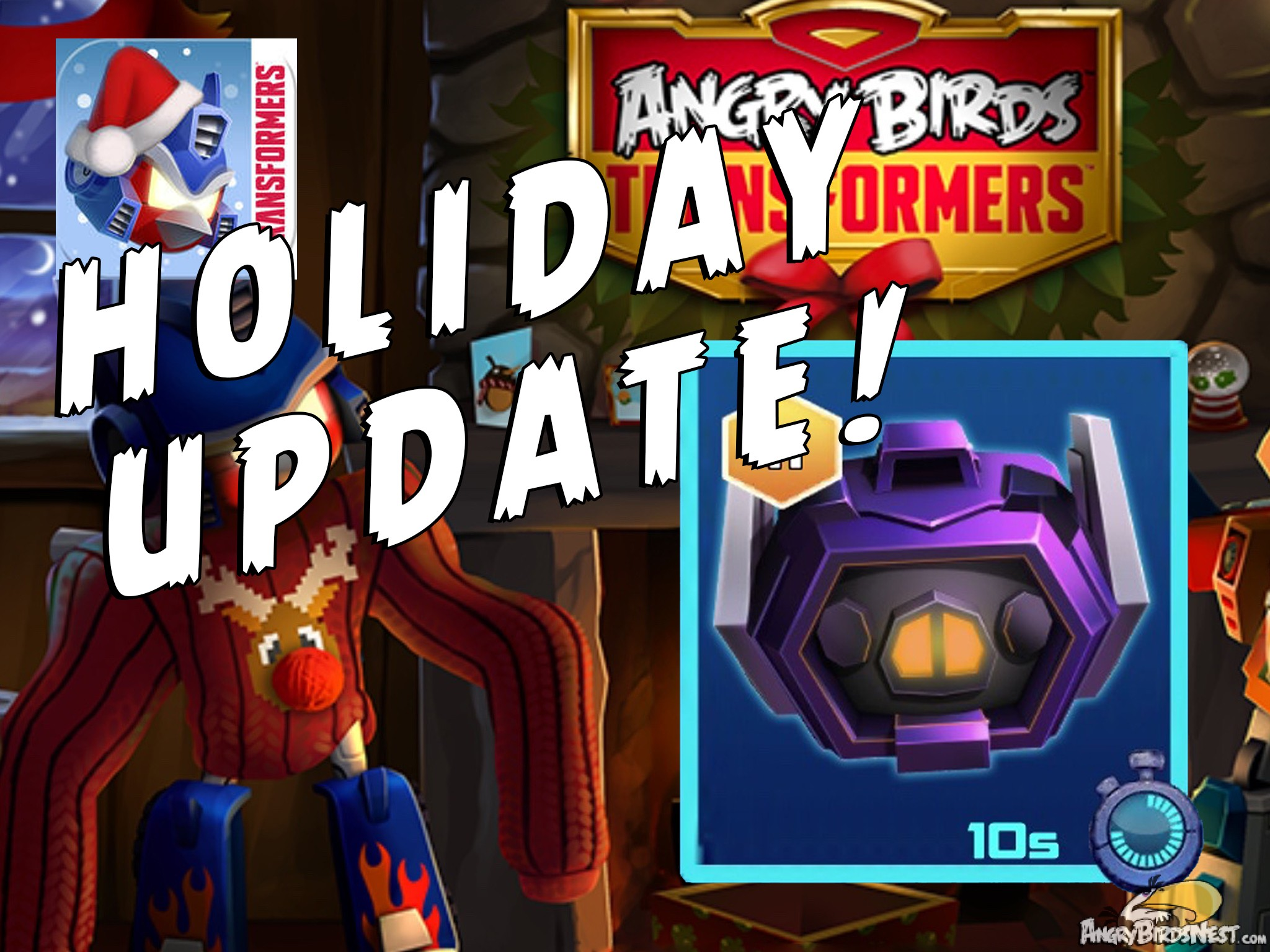 Angry Birds Transformers Holiday Update Out Now