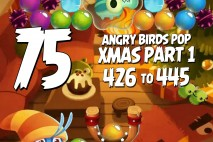 Angry Birds Pop Levels 426 to 445 Christmas Part 2 Walkthroughs