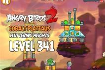 Angry Birds 2 Level 341 Cobalt Plateaus Fluttering Heights 3-Star Walkthrough