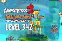 Angry Birds 2 Level 342 Cobalt Plateaus Fluttering Heights 3-Star Walkthrough